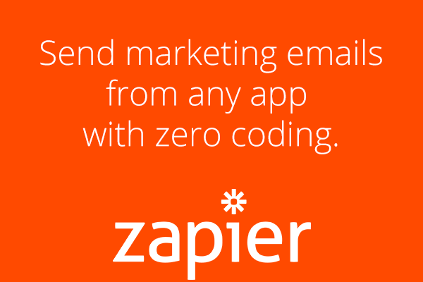 Send marketing emails from any app with zero coding.